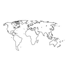 world map it is black icon vector image vector image