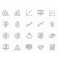 Business sketch icon set vector