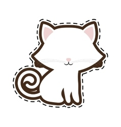 Cat breed animal mammal cut line vector