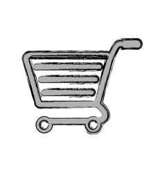 Shopping cart isolated vector