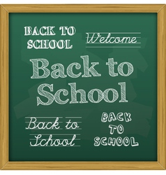 chalkboard back to school text vector image