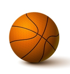 Realistic basketball ball icon vector