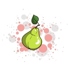 Bright juicy pear vector