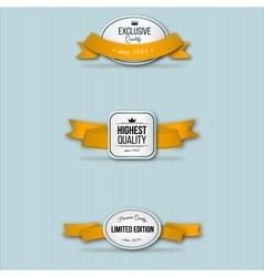 Orange retro premium badges vector