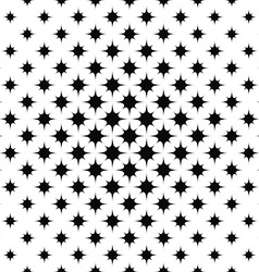 Monochrome repeating curved star pattern vector