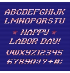 Happy labor day font and numbers vector