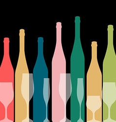 A bottle of wine vector image