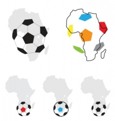 Africa football symbol vector image