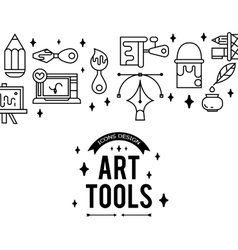 Art tools and materials for painting vector image vector image