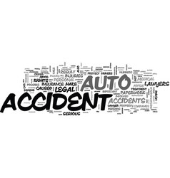 Auto accident lawyers text word cloud concept vector