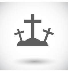 Calvary single icon vector