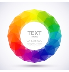 Low-poly color wheel vector