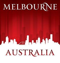Melbourne Australia city skyline silhouette vector image vector image