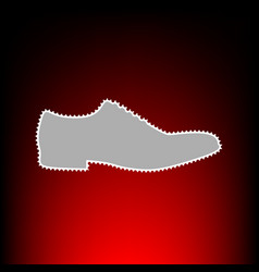 men shoes style vector image