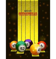 Merry Christmas bingo balls vector image