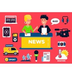 News anchor vector