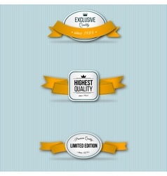 Orange retro premium badges vector