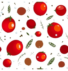 Rad canned spicy tomato seamless pattern vector