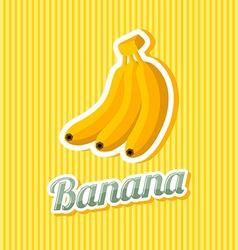 Retro banana vector