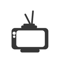 Retro television silhouette vector