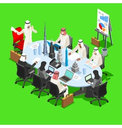 Sheik businessman isometric people vector