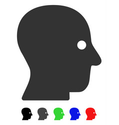 Silent head flat icon vector