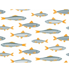 Sprats seamless pattern vector image