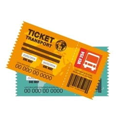 ticket travel bus icon vector image