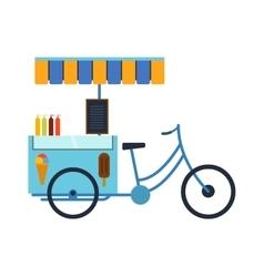 Rickshaw bike isolated vector image