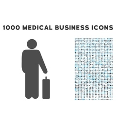 Passenger icon with 1000 medical business symbols vector