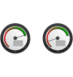 Downloads speedometer with two emblems for slow an vector