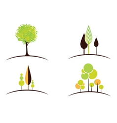 Abstract tree design collection vector