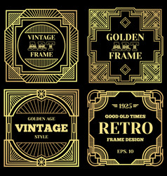 Luxury poster design with gold frames in vector