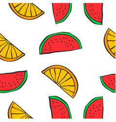 collection of fruit sytle pattern vector image