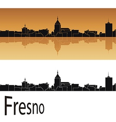 Fresno skyline vector