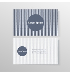 Business card template with ropes and knots vector