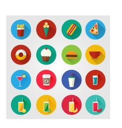 Food and drinks icons vector
