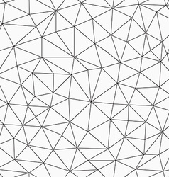 Monochrome contour triangles seamless pattern vector