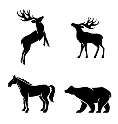 Animal iconic shapes vector