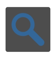 Search flat cobalt and gray colors rounded button vector