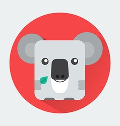 Koala baby animal icon vector
