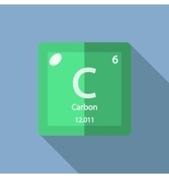 Chemical element carbon flat vector