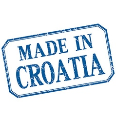 Croatia - made in blue vintage isolated label vector