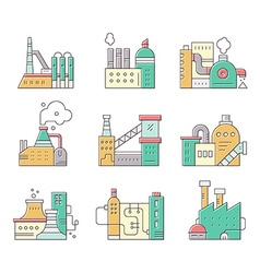 Factory buildings vector