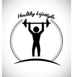 Fitness and sport lifestyle vector