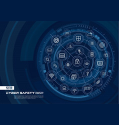 Abstract cyber security background digital vector