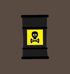 Barrel icon with a chemical substance vector