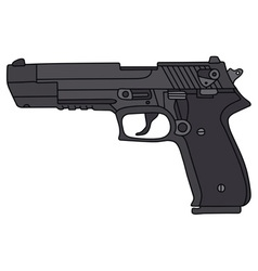 Big handgun vector
