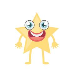 Cartoon star ornament birthday vector