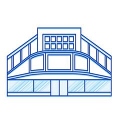 cinema shopping center lines icon vector image vector image
